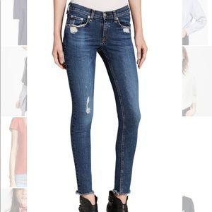 Rag Bone La Paz Destroyed skinny jeans 28